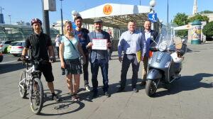 Wyścig z Białołęki do centrum: rower najszybszy, autobus ostatni