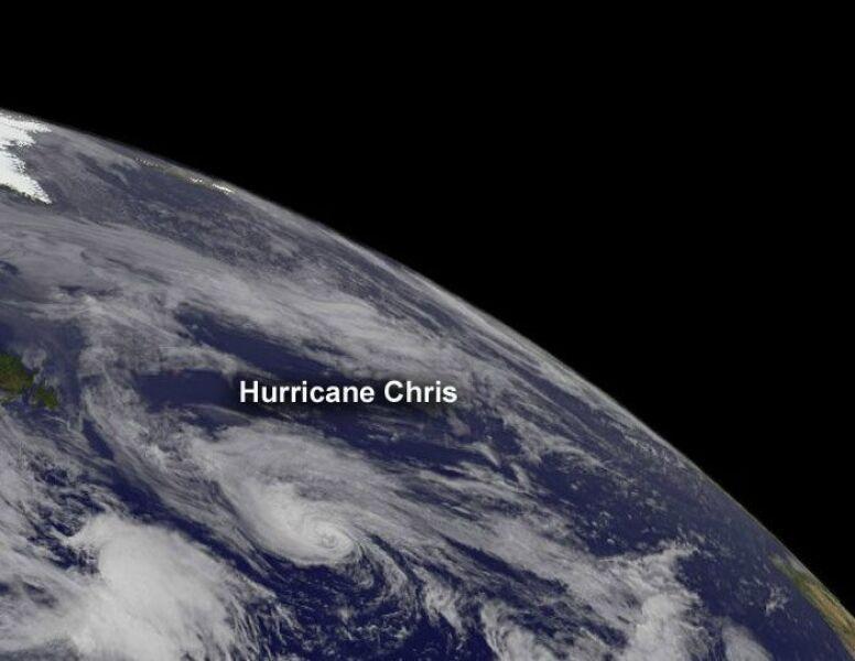 Chris, już jako huragan 21 czerwca (NASA)