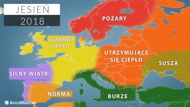 Jesień według amerykańskich meteorologów (AccuWeather)