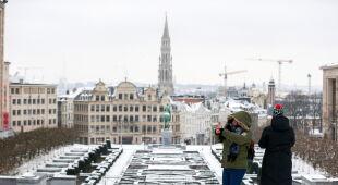 Zima w Europie (PAP/EPA/STEPHANIE LECOCQ/ANDY RAIN/FILIP SINGER)
