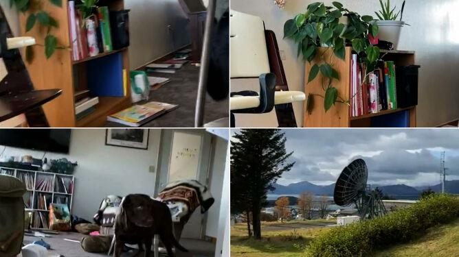 Przeczekała trzęsienie ziemi pod stołem, z dziećmi i psami. Dramatyczne nagranie z Alaski