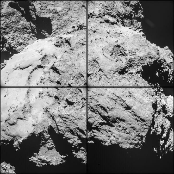 Zdjęcie komety 67P/Churyumov–Gerasimenko zrobione z odległości 10,6 km
