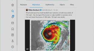 Tomasz Wasilewski o huraganie Laura