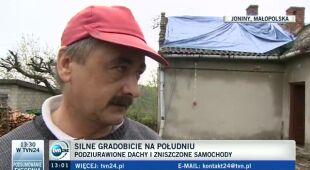 Mieszkańcy Jonin opowiadają o gradobiciach (TVN24)