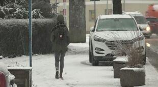 W Kartuzach spadł śnieg