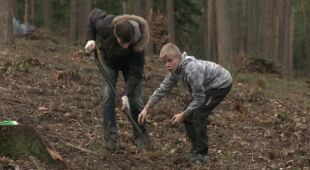 Sadzili drzewa w Lanckoronie (TVN24)