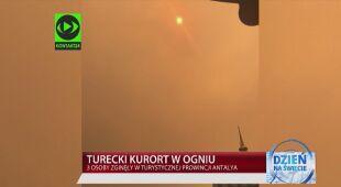 Pożar w tureckim kurorcie